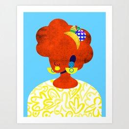Earrings No. 1 Art Print