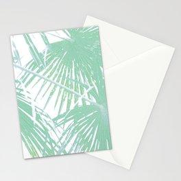 Subtle palm leaves Stationery Cards