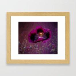 Passionate Plum Poppy Framed Art Print