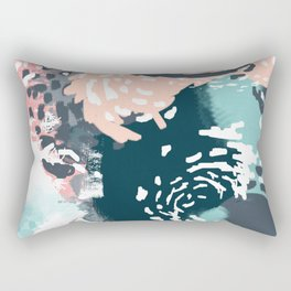 August - Abstract modern painting in bold colors for trendy feminine style Rectangular Pillow