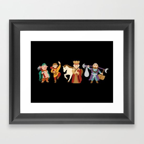 Journey To The West - the guardians Framed Art Print