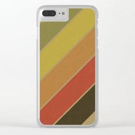 Retro Circus Color Palette Clear iPhone Case