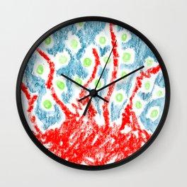 crazy fruits Wall Clock