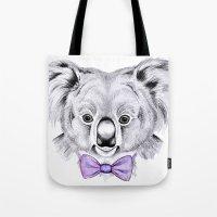 koala Tote Bags featuring Koala by 13 Styx