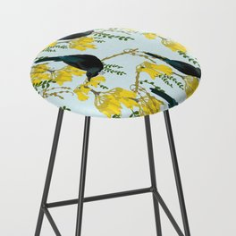 Tuis in the Kowhai Flowers Bar Stool
