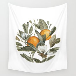 Orange Blossom Wall Tapestry