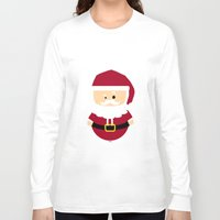 santa Long Sleeve T-shirts featuring Santa by Kimono Hyun