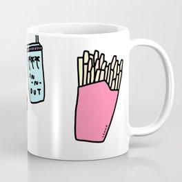 Dear My Lovely California - Burger Cactus Palm Tree Tropical Pattern Coffee Mug
