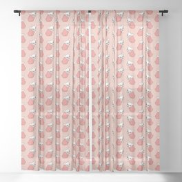 Stubborn French Bulldog Sometimes Doesn't Care Sheer Curtain