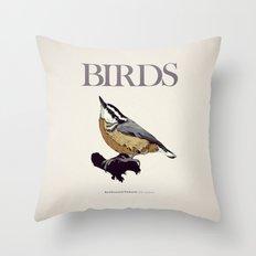 BIRDS 01 Throw Pillow
