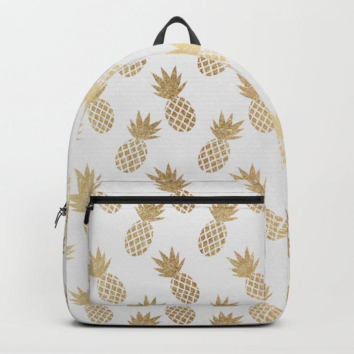 Gold Pineapple Pattern Rucksack