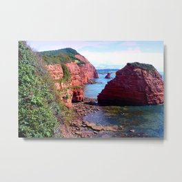 Ladram Bay Jurassic Coast Devon England Metal Print