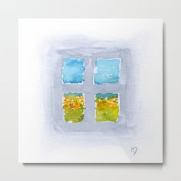 Window No6 Metal Print