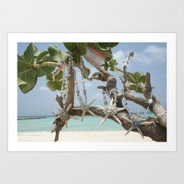 """Be A Star!"" Family in Aruba Art Print"