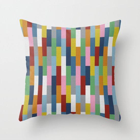 Bricks Rotate Throw Pillow