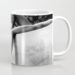 Dip your toes into the water, female form black and white photography - photographs Coffee Mug