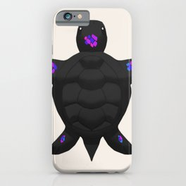 Black/Blue/Purple/Magenta Sea Turtle iPhone Case