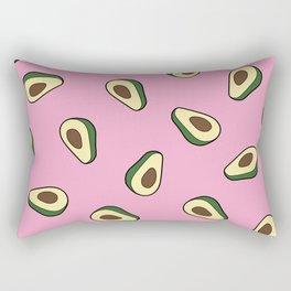 Avocado pattern in pink Rectangular Pillow