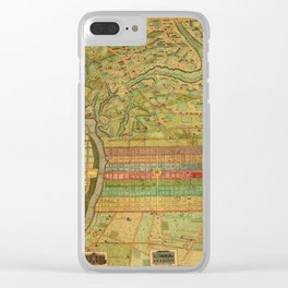 Map of Philadelphia 1802 Clear iPhone Case