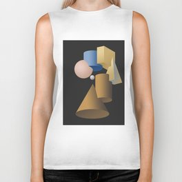 Girl with a Pearl Earring Hommage Parody Biker Tank