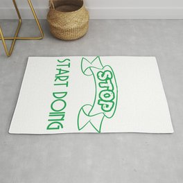 Still looking for a sensible and unique gift to your loved ones? Stop Looking Start Doing T-shirt  Rug