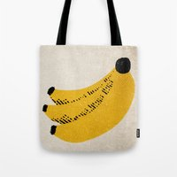 banana Tote Bags featuring Banana by Roland Lefox