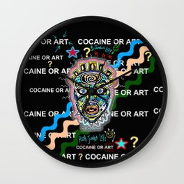 Drugs or Art Wall Clock