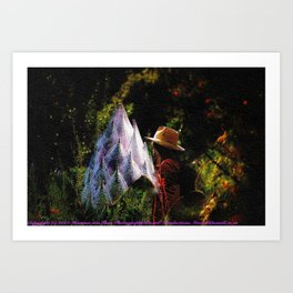 The Full Moon Discovery of a Giant Protea Art Print