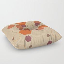 Hexagon Autumn Floor Pillow