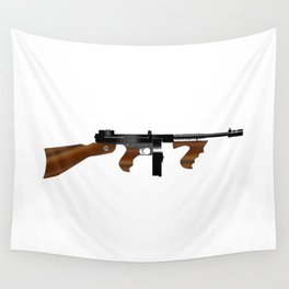 Tommy Gun Wall Tapestry