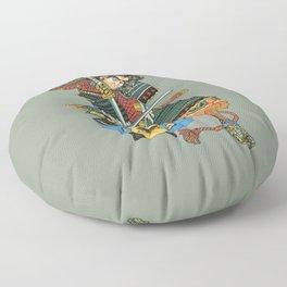 Samurai and Pug Floor Pillow