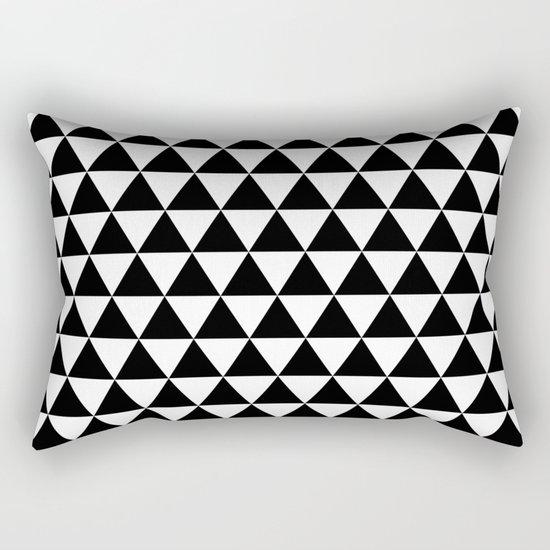 Triangles (Black/White) Rectangular Pillow
