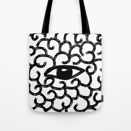contemplating eye Tote Bag