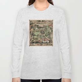 Vintage Pictorial Map of Central Park NYC (1860) Long Sleeve T-shirt
