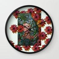 chakra Wall Clocks featuring Chakra Sadhna by Harsh Malik