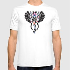 Asian Elephant SMALL White Mens Fitted Tee