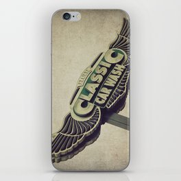 Flying Wings Classic Car Wash iPhone Skin