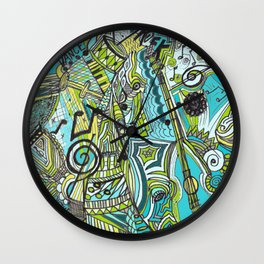 Musically Aqua Wall Clock