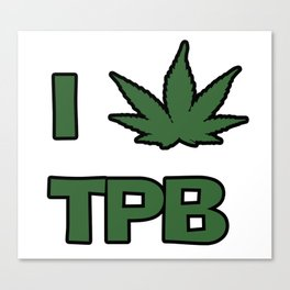I Love TPB! Canvas Print