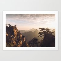 Sunrise in the Yellow Mountains Art Print