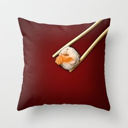 Sushi in red Throw Pillow