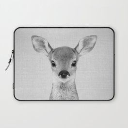 Baby Deer - Black & White Laptop Sleeve