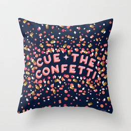 Cue the Confetti – Navy Palette Throw Pillow