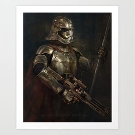 The Woman in the Armour Art Print
