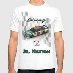 For the members of Jr. Nation MEDIUM Mens Fitted Tee White