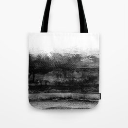 black and white layers abstract painting Tote Bag