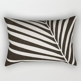 Zebra Palm / Black and White Palm Frond Rectangular Pillow