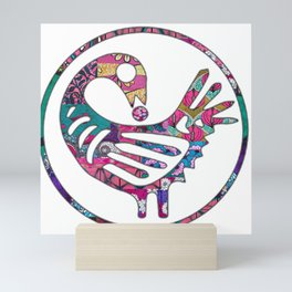 Pink Sankofa Bird Mini Art Print