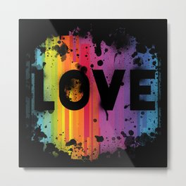 For Love - Black Background Metal Print