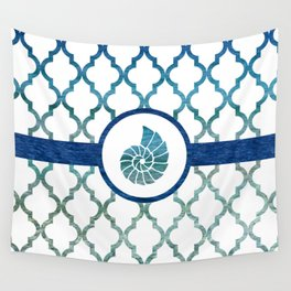 Seashell: Tropical Water Moroccan Pattern Wall Tapestry